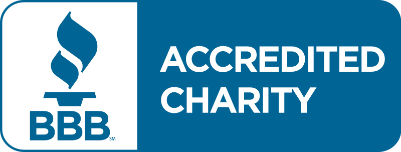 Better Business Bureau accredited charity banner