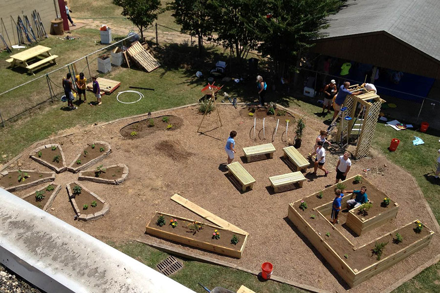 community garden play area
