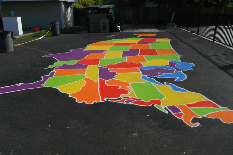 How To Paint US And World Maps KaBOOM - Us map stencil