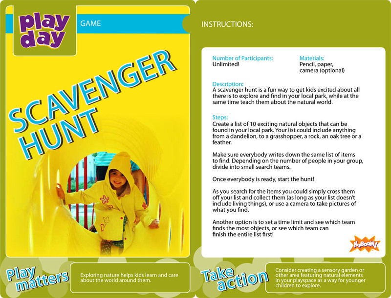 Scavenger Hunt Information Card