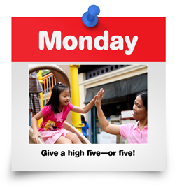 Give a high five--or five!