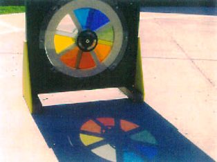 Color wheel at playground