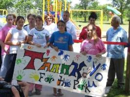 The Boys & Girls Club says thanks with a hand-painted sign