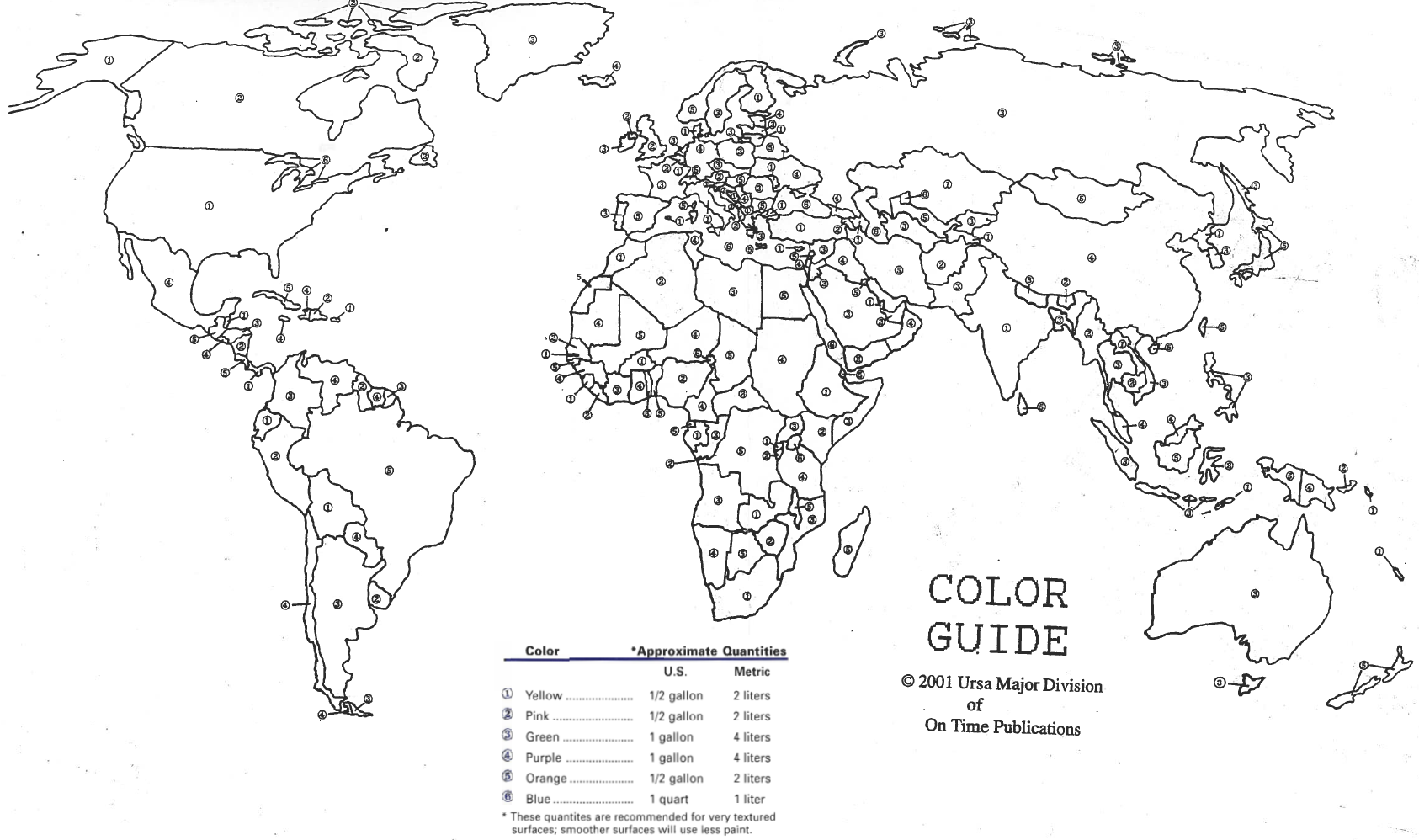 How To Paint US And World Maps KaBOOM - Us map color